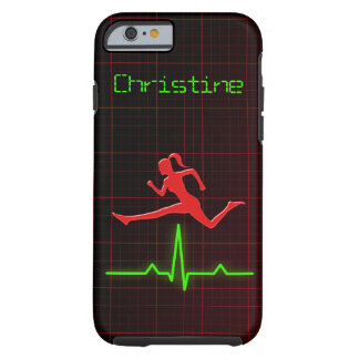 Cool Red Feminine Fitness Coach Personal Trainer Tough iPhone 6 Case