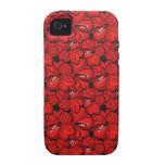 Cool red flowers iPhone case mate Vibe iPhone 4 Cases