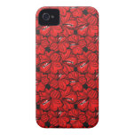 Cool red flowers mate iPhone case Case-Mate iPhone 4 Case