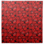 Cool  red flowers napkin