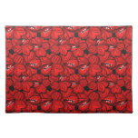 Cool  red flowersplacemat place mat