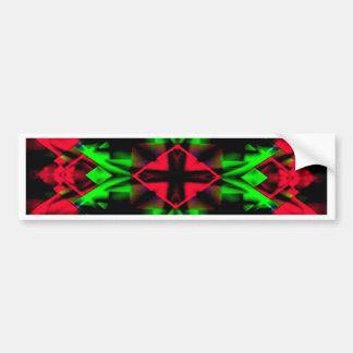 Cool Red Green Seasonal Christmas  Novel Pattern Bumper Sticker