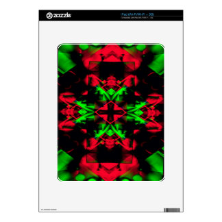 Cool Red Green Seasonal Christmas  Novel Pattern Decals For The iPad