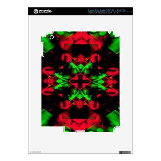 Cool Red Green Seasonal Christmas  Novel Pattern iPad 3 Skin