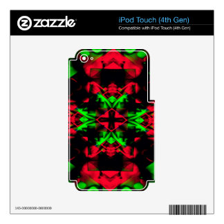 Cool Red Green Seasonal Christmas  Novel Pattern iPod Touch 4G Skins