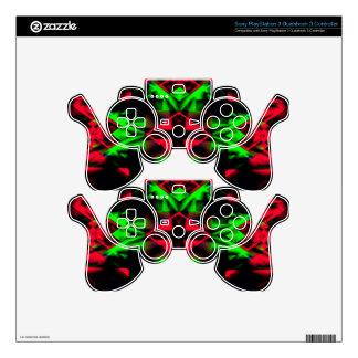Cool Red Green Seasonal Christmas  Novel Pattern PS3 Controller Skin