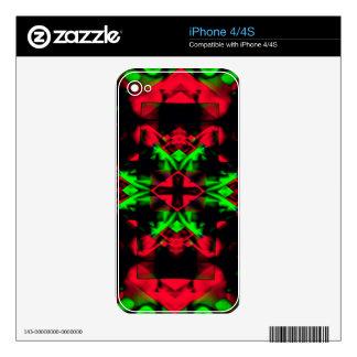 Cool Red Green Seasonal Christmas  Novel Pattern Skin For iPhone 4