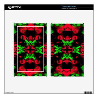 Cool Red Green Seasonal Christmas  Novel Pattern Skin For Kindle Fire