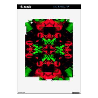 Cool Red Green Seasonal Christmas  Novel Pattern Skins For iPad 2