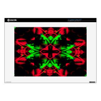 Cool Red Green Seasonal Christmas  Novel Pattern Skins For Laptops