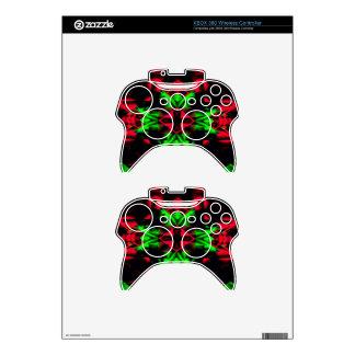 Cool Red Green Seasonal Christmas  Novel Pattern Xbox 360 Controller Skin