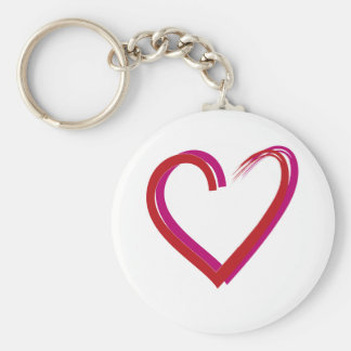 Cool Red Hearts Key Chain