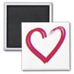 Cool Red Hearts Magnet