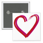 Cool Red Hearts Pinback Buttons