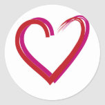 Cool Red Hearts Stickers
