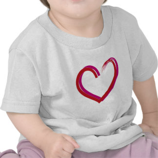 Cool Red Hearts T Shirts