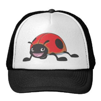 Cool Red Ladybug Cartoon Trucker Hat