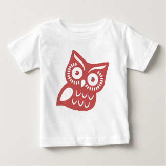 Cool Red Owl Baby T-Shirt
