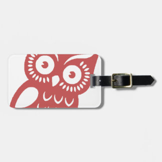 Cool Red Owl Bag Tag