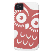Cool Red Owl iPhone 4 Case-Mate Case