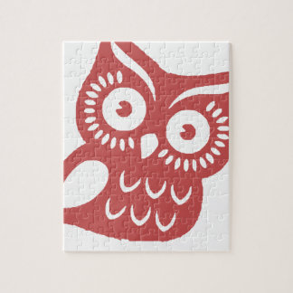 Cool Red Owl Jigsaw Puzzle