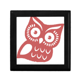 Cool Red Owl Keepsake Box