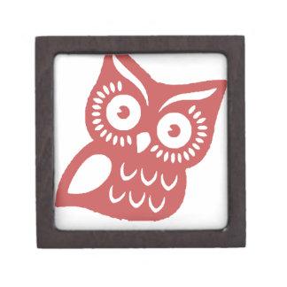 Cool Red Owl Premium Jewelry Box