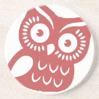 Cool Red Owl Sandstone Coaster