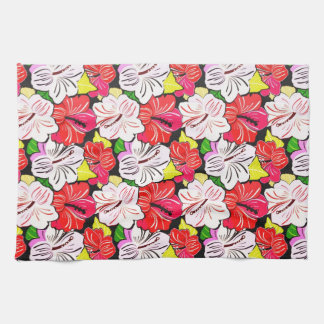 Cool  red pink spring flowers kitchen towel