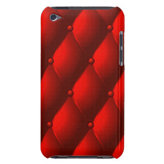 Cool Red Quilted Leather for the Touch iPod Case-Mate Case