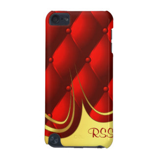 Cool Red Quilted Leather Monogram Case iPod Touch 5G Case