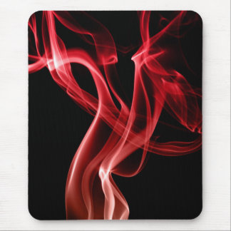 Cool red smoke mouse pad