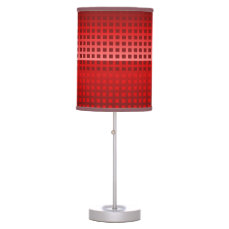 Cool Red Squares Pattern Desk Lamp