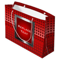 Cool Red Squares Pattern Large Gift Bag