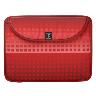 Cool Red Squares Pattern MacBook Pro Sleeve