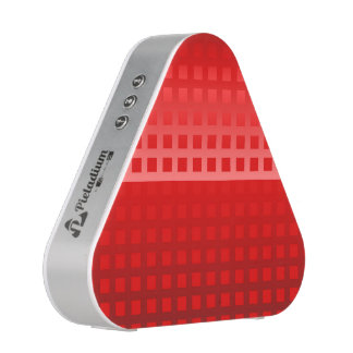 Cool Red Squares Pattern Bluetooth Speaker