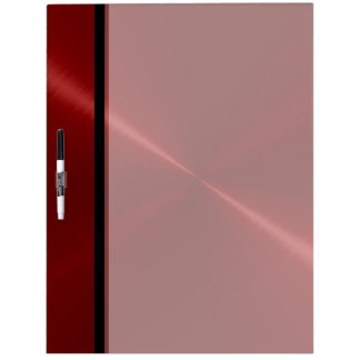 Cool Red Stainless Steel Metal Dry-Erase Board