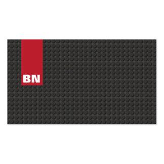 Cool Red Stripe Black Monogram Auto Automotive Business Card