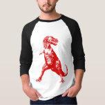 Cool Red Tyrannosaurus Rex (t-rex) Dinosaur… T-shirt at Zazzle