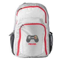 Cool Red Video Game Controller Nike Backpack