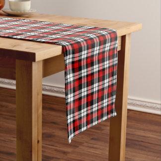 Cool Red White Black Lumberjack Tartan Pattern Long Table Runner