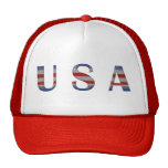 Cool Red White & Blue USA Patriotic Hat