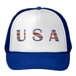 Cool Red White & Blue USA Patriotic Trucker Hats