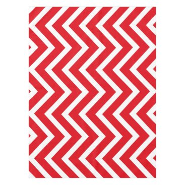 Halloween Themed Cool red white Chevron  tablecloth