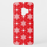 "Cool Red White Snowflakes Christmas Pattern Case-Mate Samsung Galaxy S9 Case<br><div class=""desc"">Festive red and white snowflakes christmas pattern on phone case.</div>"