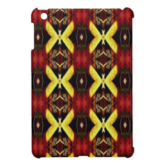 Cool Red Yellow Lattice Pattern iPad Mini Cover