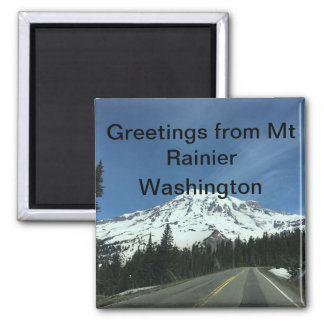 cool ref magnet of mt ranier in washington