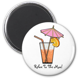 Cool Refreshing Drink 2 Inch Round Magnet