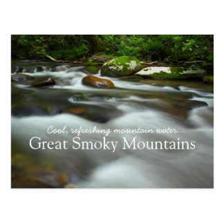 Cool refreshing mountain water - Great Smoky Mtns Postcard