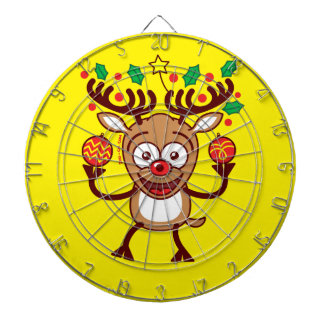 Cool Reindeer Decorating for Christmas Dart Boards
